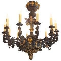 Twelve-Light Baroque Chandelier
