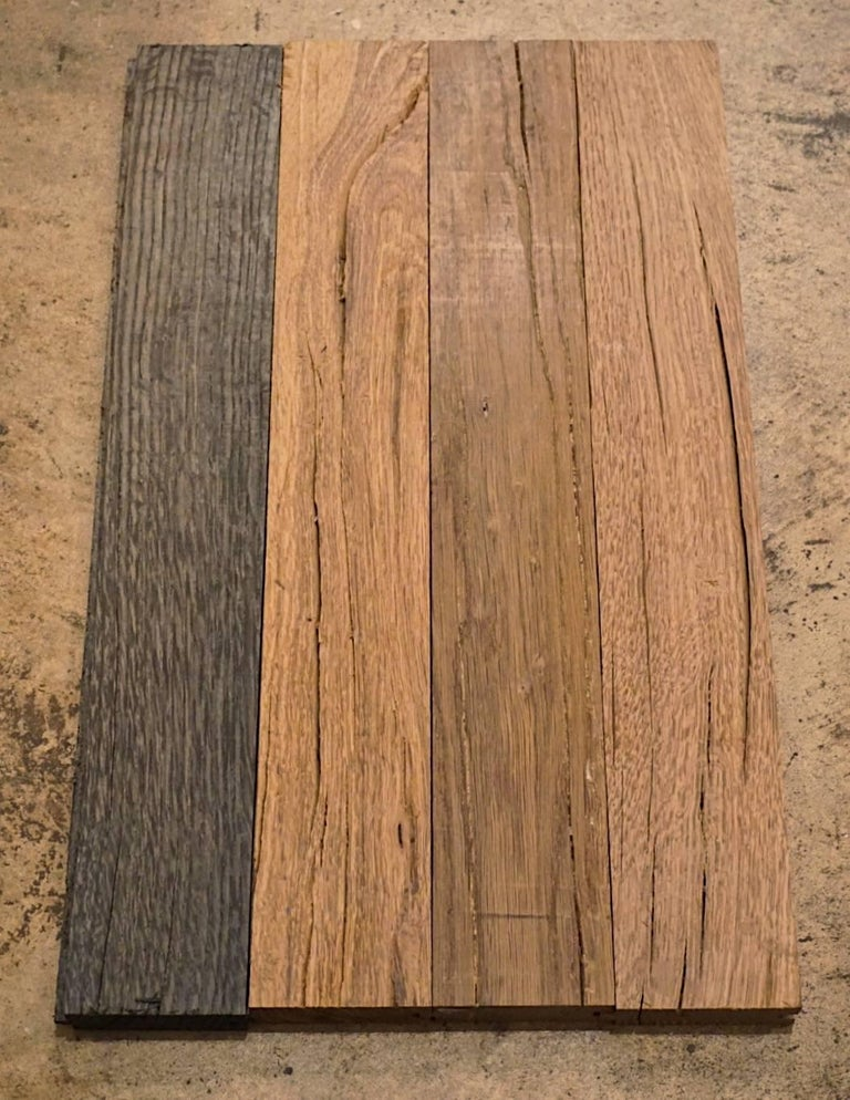Ancient '2300 Years Old' European Hardwood Parquet Flooring In Excellent Condition For Sale In Dallas, TX