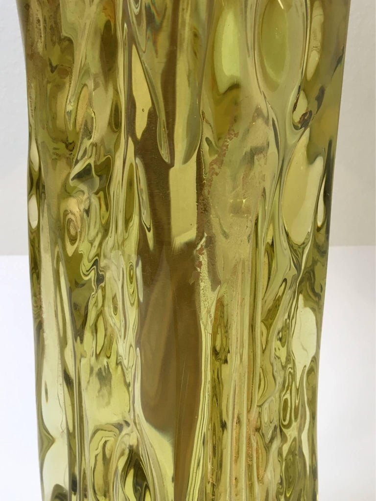 Mid-Century Modern Italian Murano Glass Table Lamp by Seguso for Marbro For Sale