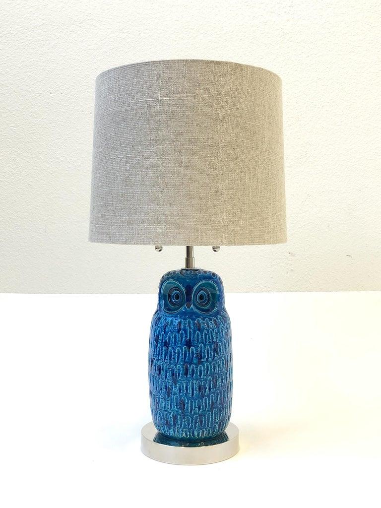 Italian ceramic and nickel owl table lamp by aldo londi for bitossi italian ceramic and nickel owl table lamp by aldo londi for bitossi for sale aloadofball Choice Image