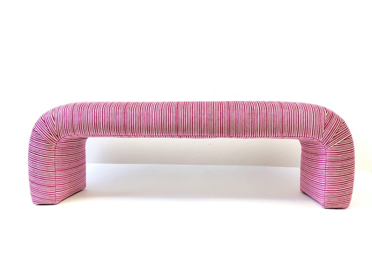 Modern Waterfall Bench by Steve Chase For Sale