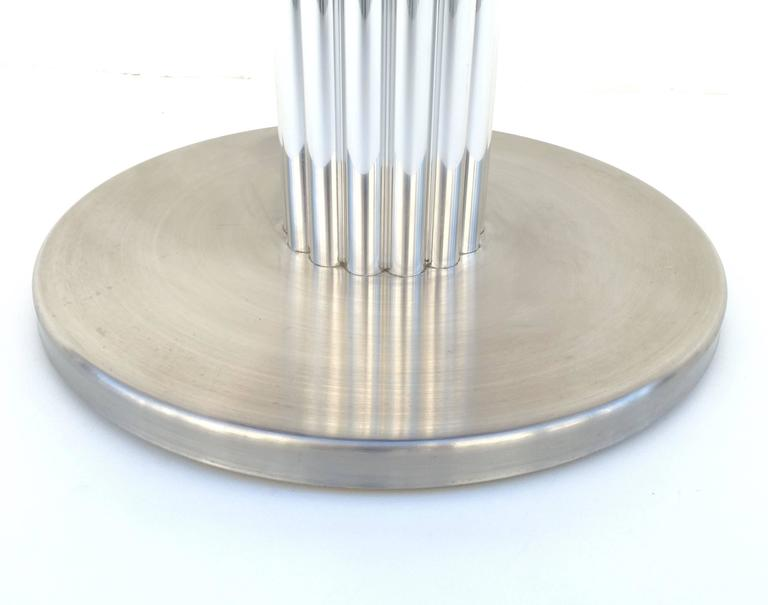 Set Of Four Chrome Swivel Stools Made By Design For
