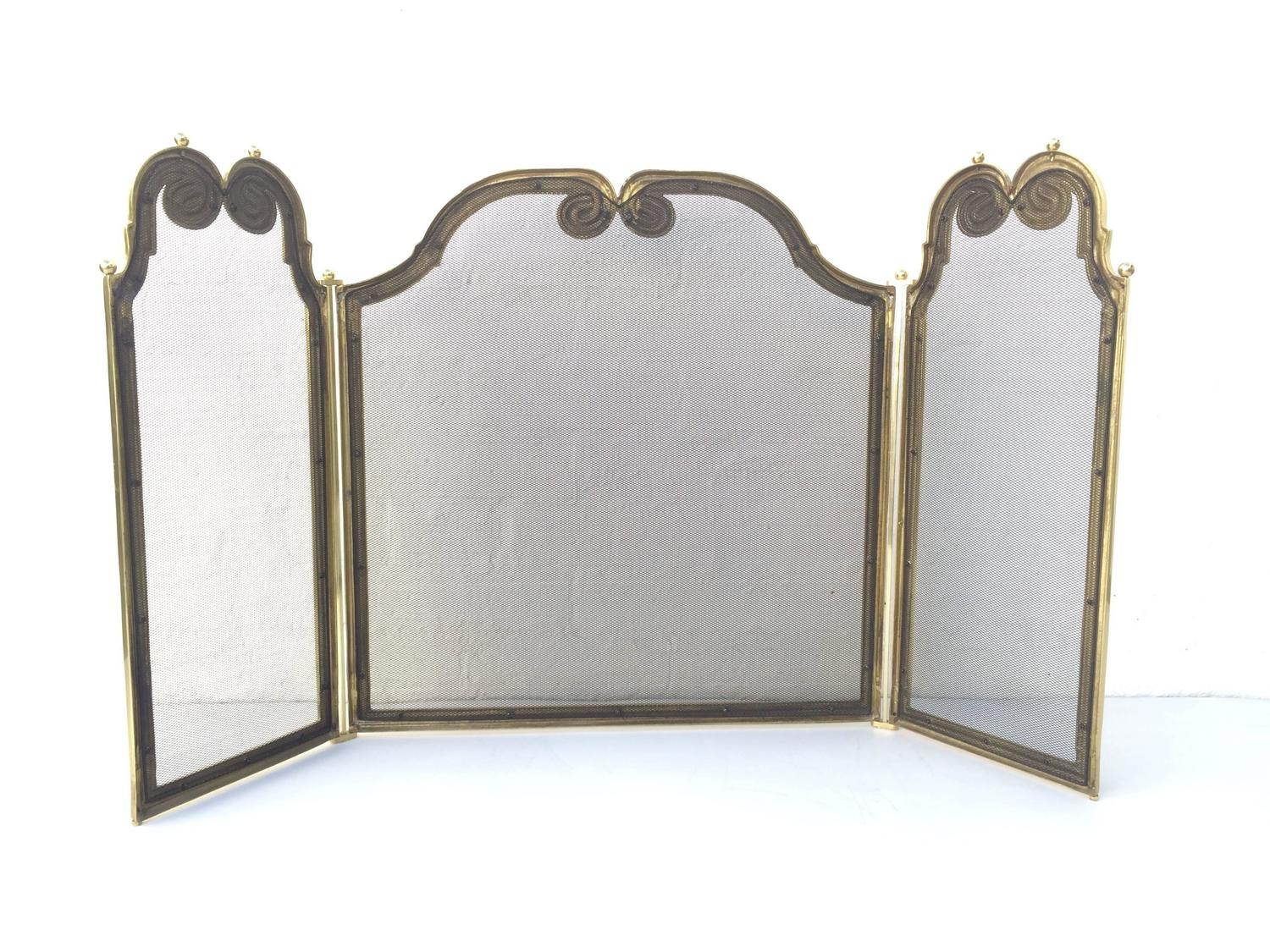 Brass Fireplace Screen For Sale At 1stdibs