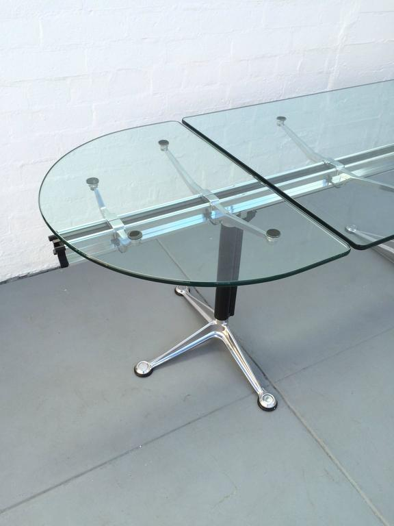 Glass And Aluminum Table Designed By Bruce Burdick For
