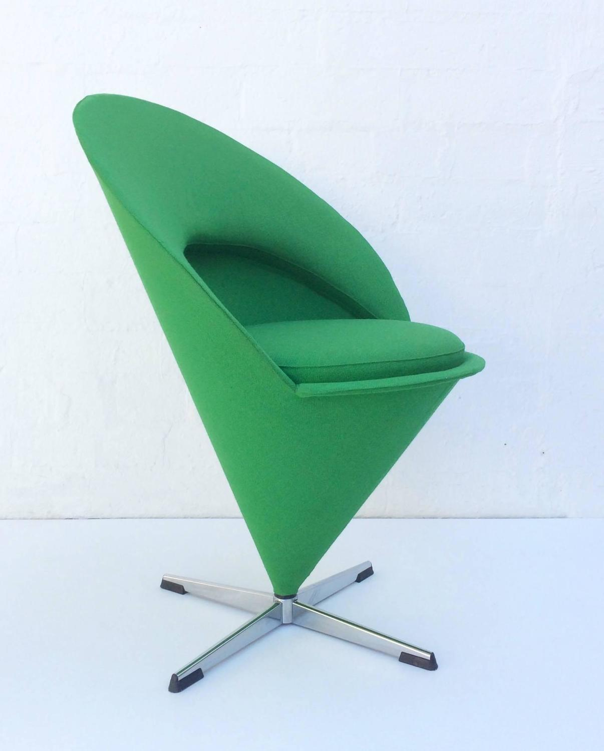 iconic cone chair by verner panton at 1stdibs. Black Bedroom Furniture Sets. Home Design Ideas