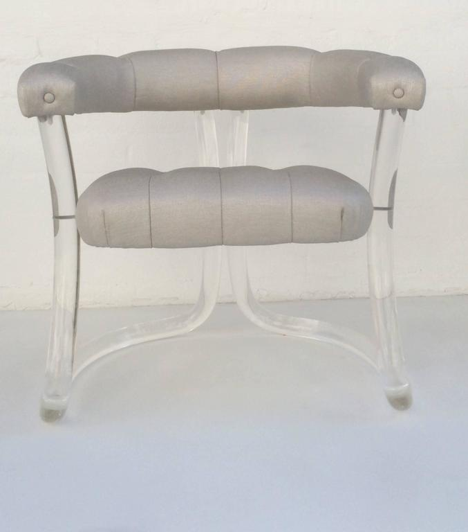 Pair Sculpted Acrylic Armchairs For Sale 2