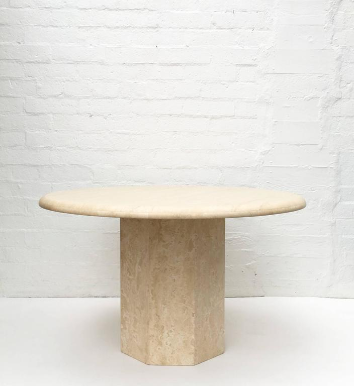 Round Travertine Dining Table Roundtables