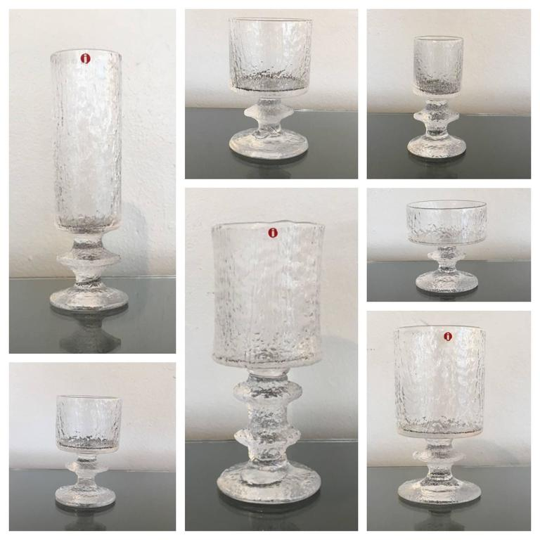 Rare Service for Eight Drink Set by Timo Sarpaneva for Iittala For Sale 2