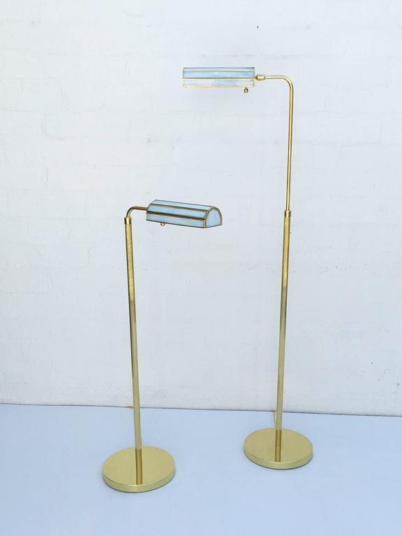 Pair of 1970s Adjustable Brass Floor Lamps 2