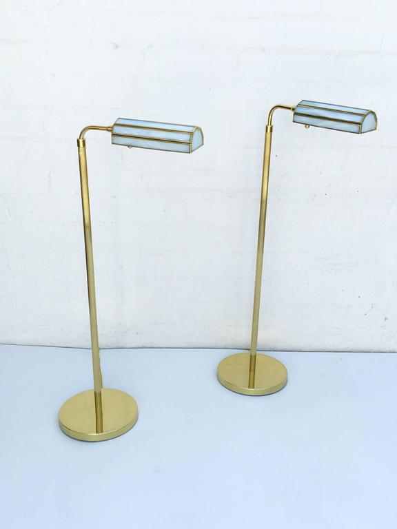 Pair of 1970s Adjustable Brass Floor Lamps 3