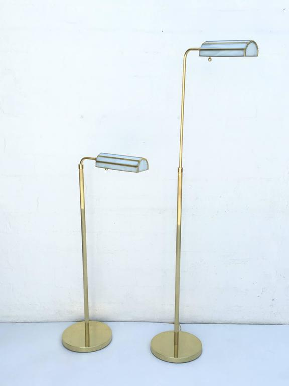 Pair of 1970s Adjustable Brass Floor Lamps 7