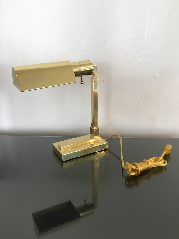 Polished Brass Desk Lamp by Casella For Sale 1