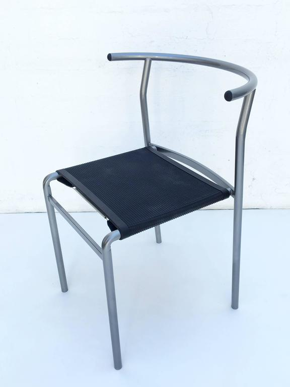 Post-Modern Four Café Staking Chairs by Philippe Starck for Cerruti Baleri For Sale