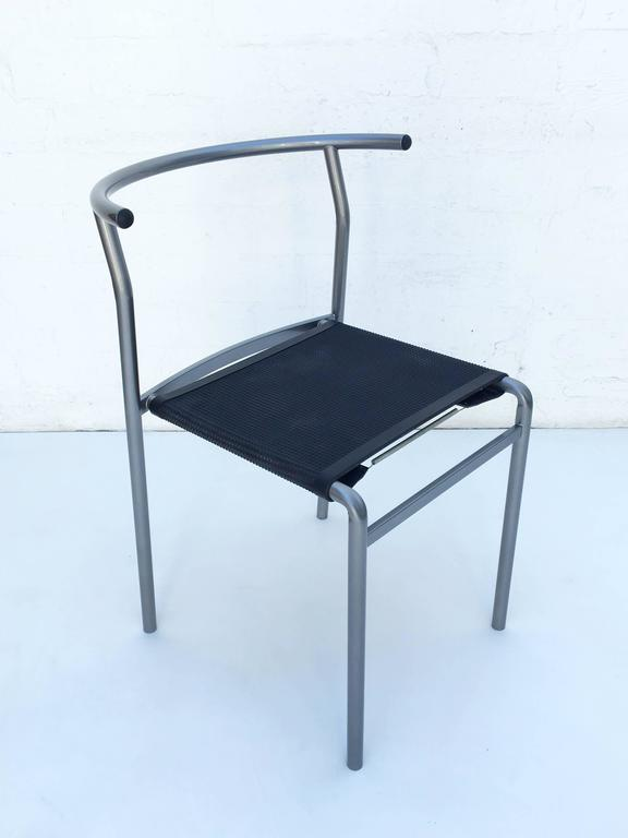 Powder-Coated Four Café Staking Chairs by Philippe Starck for Cerruti Baleri For Sale