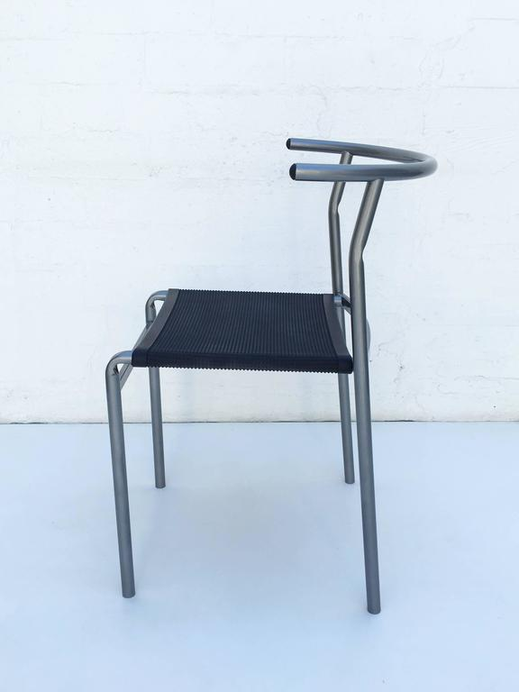 Italian Four Café Staking Chairs by Philippe Starck for Cerruti Baleri For Sale