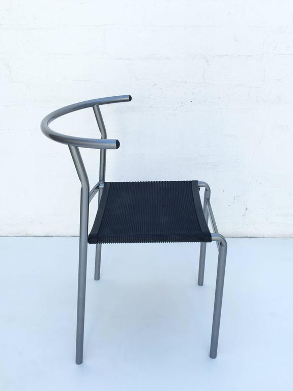 Four Café Staking Chairs by Philippe Starck for Cerruti Baleri In Excellent Condition For Sale In Palm Springs, CA