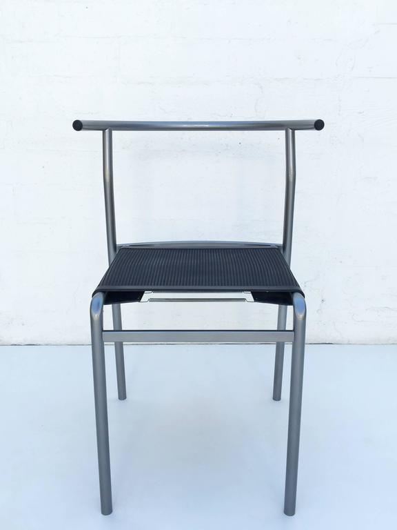 Late 20th Century Four Café Staking Chairs by Philippe Starck for Cerruti Baleri For Sale