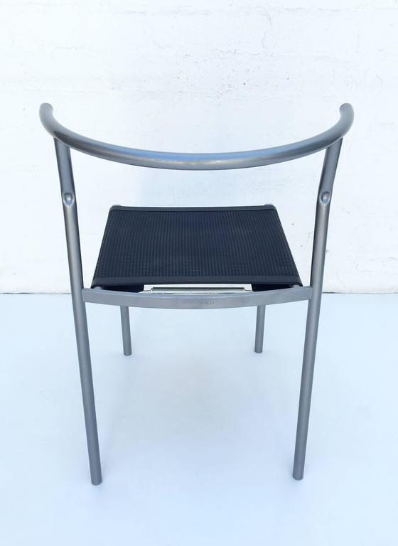 Steel Four Café Staking Chairs by Philippe Starck for Cerruti Baleri For Sale