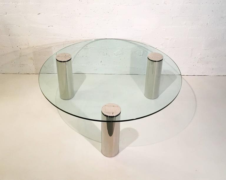A beautiful 1970s tripod cocktail table by Pace Collection.