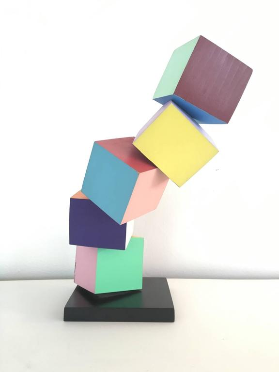 Post-Modern Acrylic on Wood Memphis Style Sculpture by Todd Gray For Sale