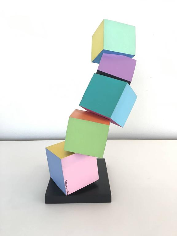 Acrylic on Wood Memphis Style Sculpture by Todd Gray In Excellent Condition For Sale In Palm Springs, CA
