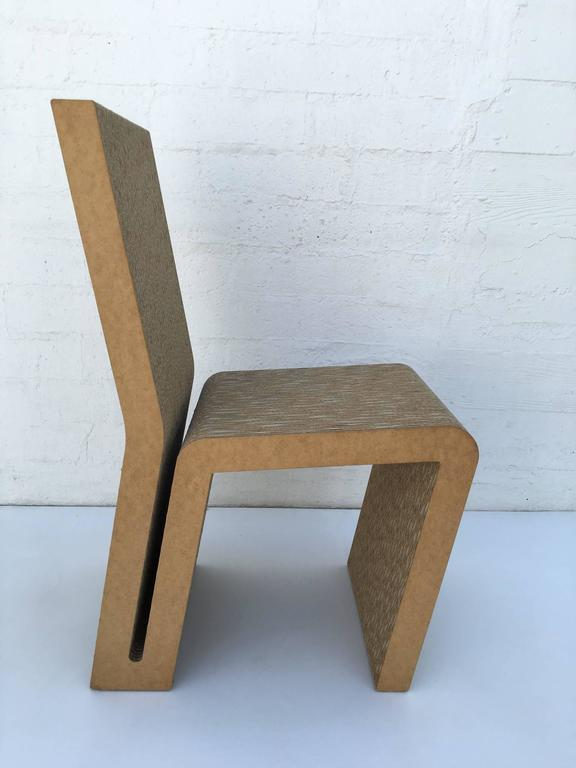 Easy Edges Cardboard Side Chair by Frank Gehry 2