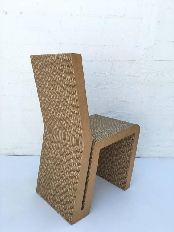 Easy Edges Cardboard Side Chair by Frank Gehry 3