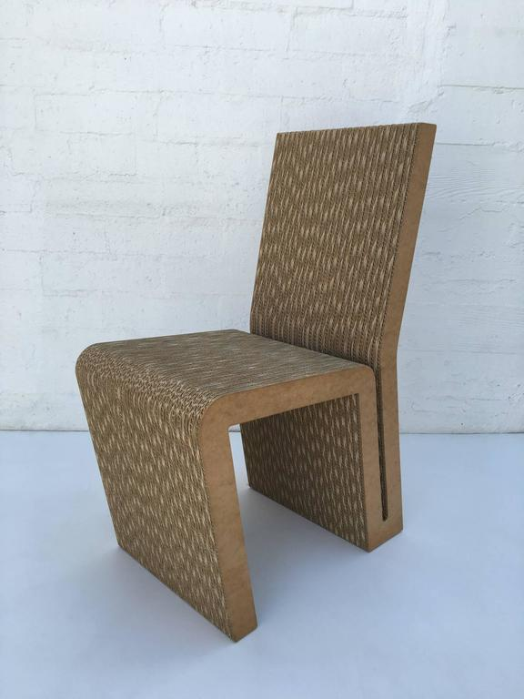 Easy Edges Cardboard Side Chair by Frank Gehry 4