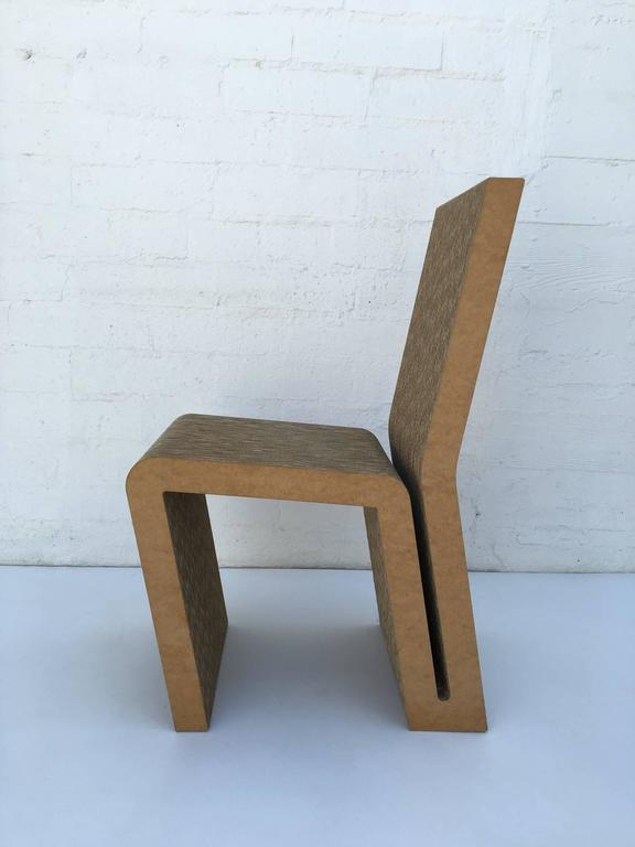 Easy Edges Cardboard Side Chair by Frank Gehry 5
