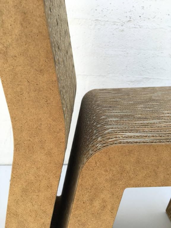 Easy Edges Cardboard Side Chair by Frank Gehry 6