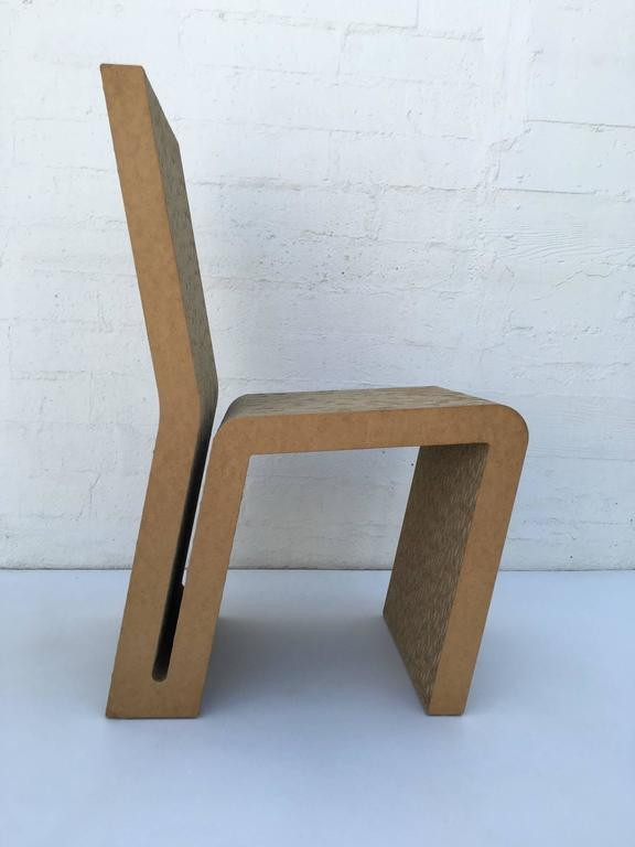 Easy Edges Cardboard Side Chair by Frank Gehry 8