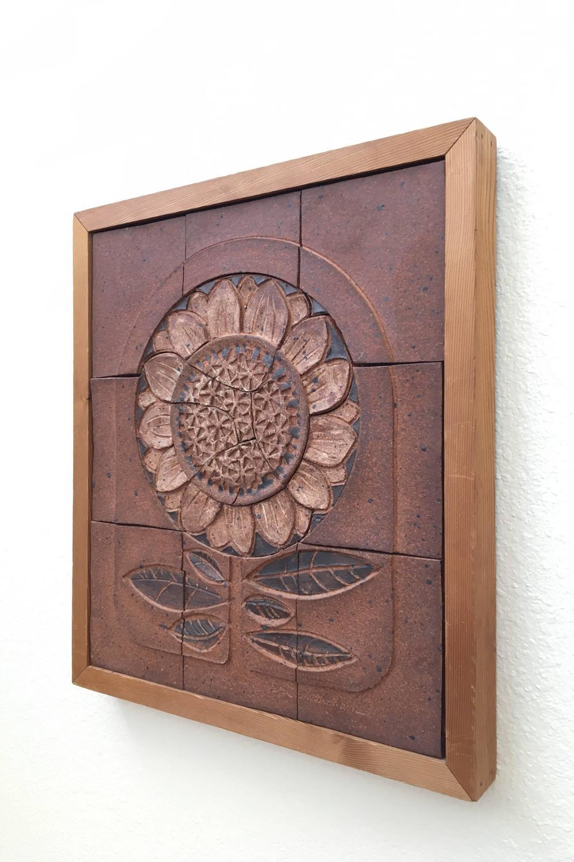 1973 Studio Ceramic Tile Art By D Cunningham For Sale At