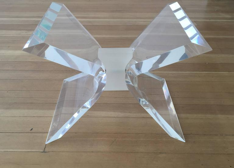 Acrylic and Glass Cocktail Table by Lion in Frost 3