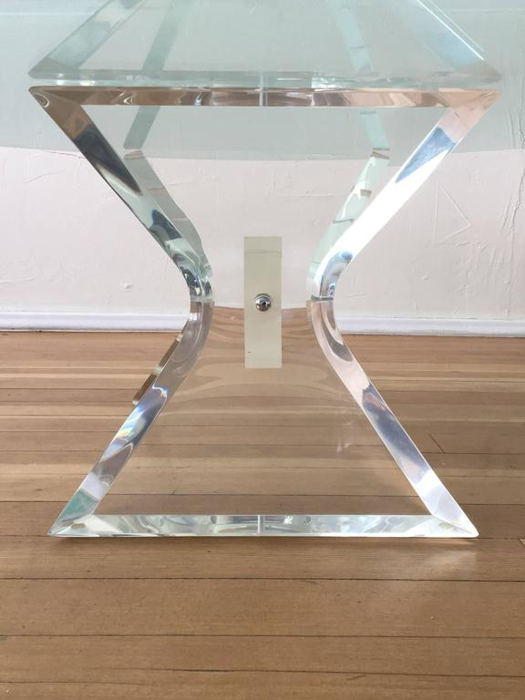 Acrylic and Glass Cocktail Table by Lion in Frost 4