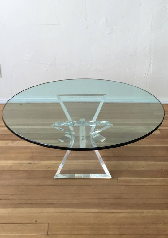 Acrylic and Glass Cocktail Table by Lion in Frost 5