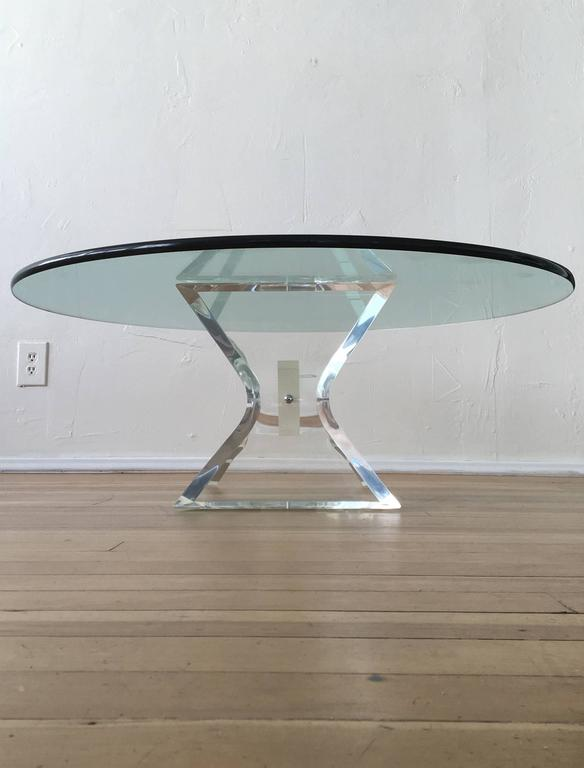 Acrylic and Glass Cocktail Table by Lion in Frost 6
