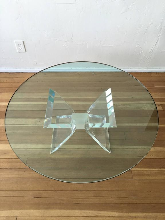 Acrylic and Glass Cocktail Table by Lion in Frost 7