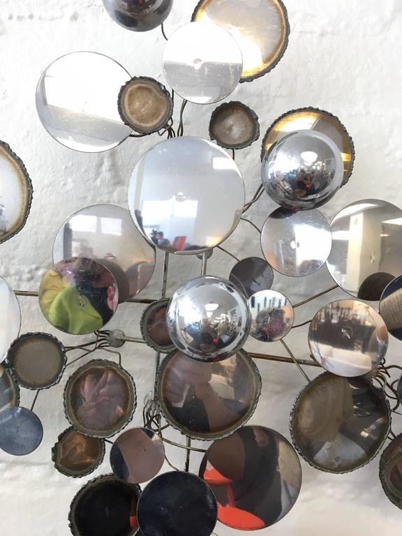"Chrome ""Raindrops"" Wall Sculpture by Curtis Jeré 3"