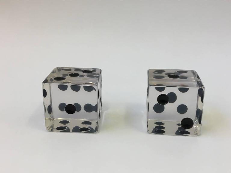 Modern Pair of Large Acrylic Dice by Charles Hollis Jones For Sale