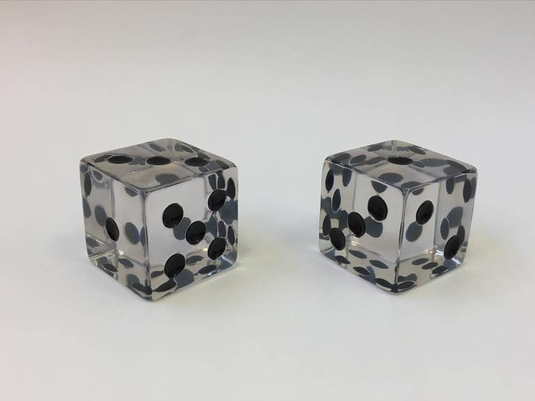 American Pair of Large Acrylic Dice by Charles Hollis Jones For Sale
