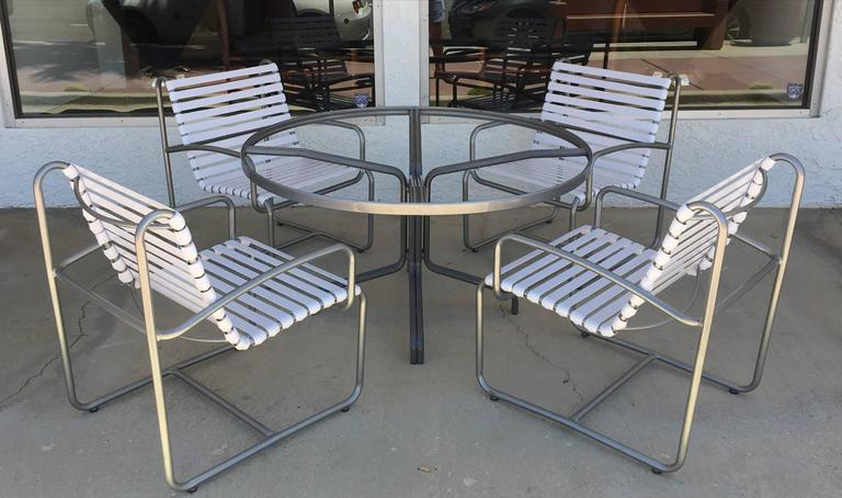 1970s Outdoor Five Piece Patio Set By Brown Jordan At 1stdibs