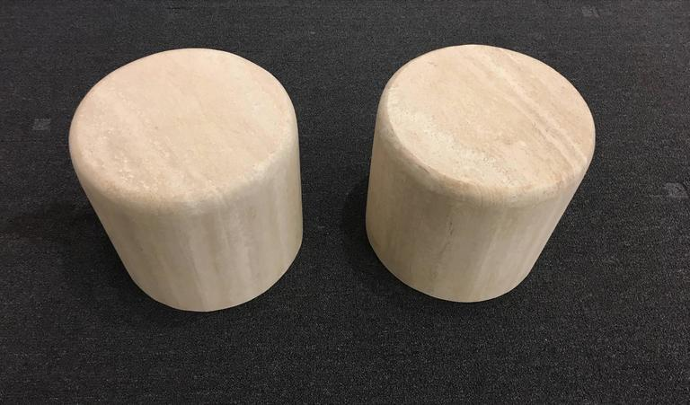 Sculptural Italian Travertine Cocktail Table For Sale 2