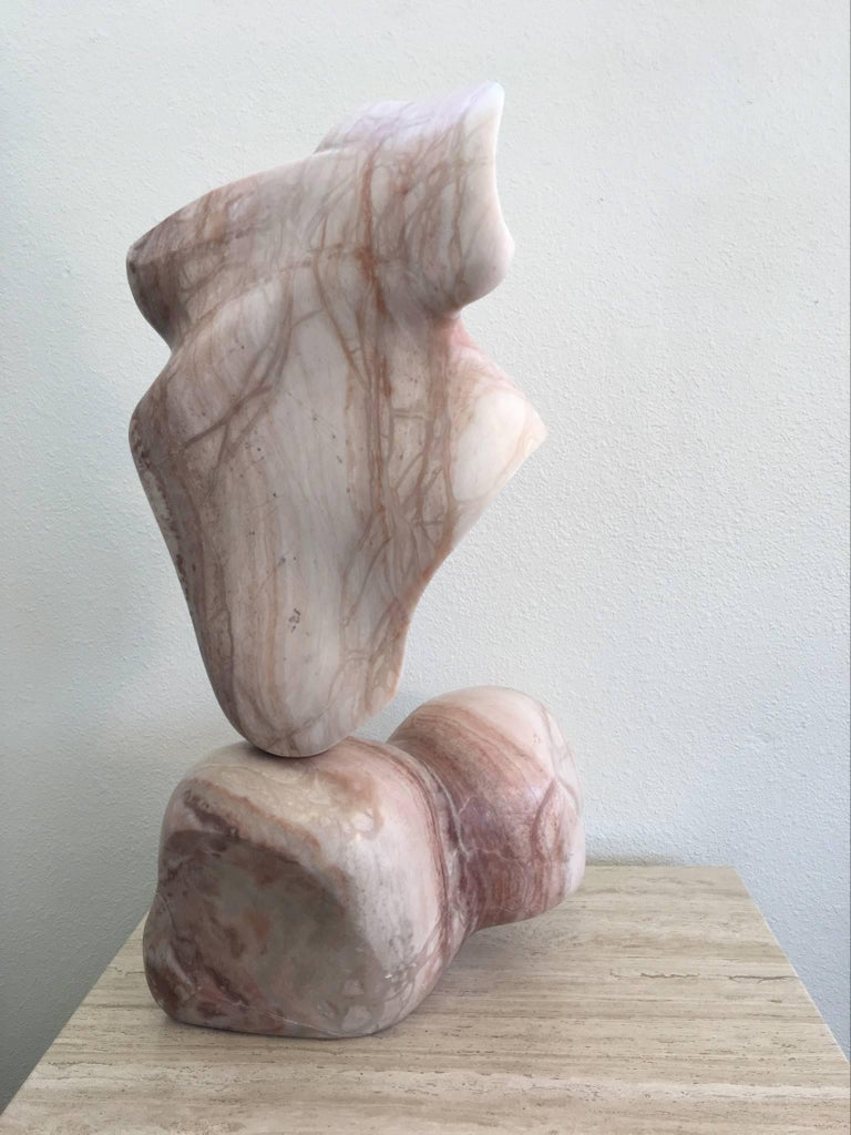 Modern Solid Marble Kinetic Sculpture For Sale