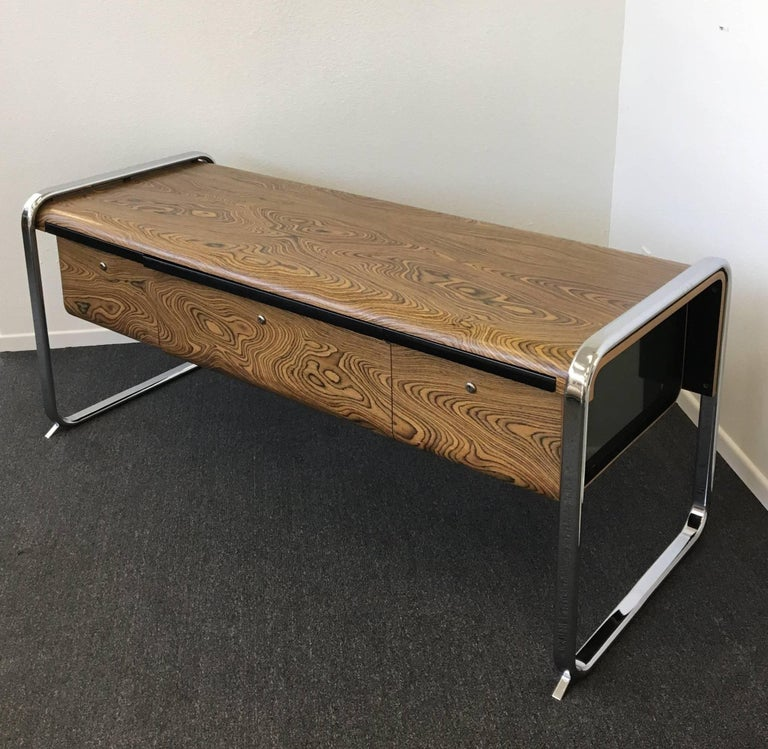 Zebrawood and Chrome Credenza by Peter Protzman for Herman Miller 4