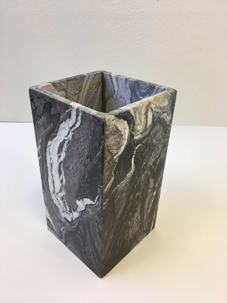 Modern Italian Marble Side Table For Sale
