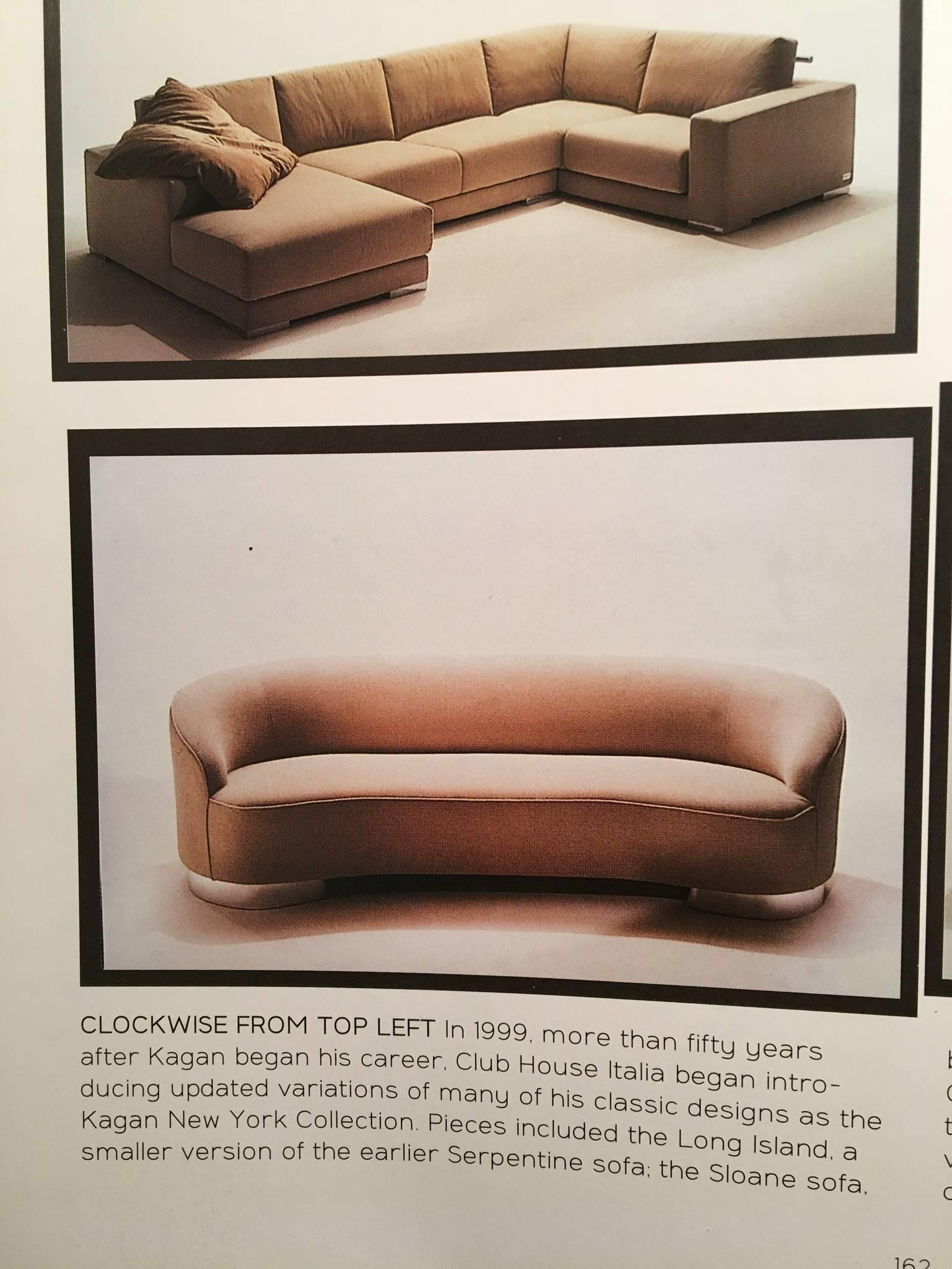 New Moon Two Armed Sofa By Vladimir Kagan For Sale At 1stdibs