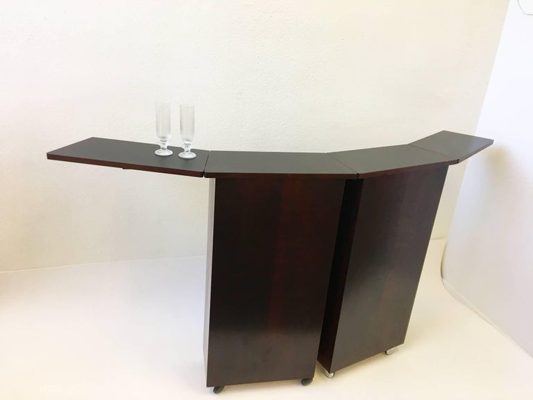 An Amazing 1970s Danish Rosewood Folding Portable Bar By Designer Niels Erik Glasdam Jensen For