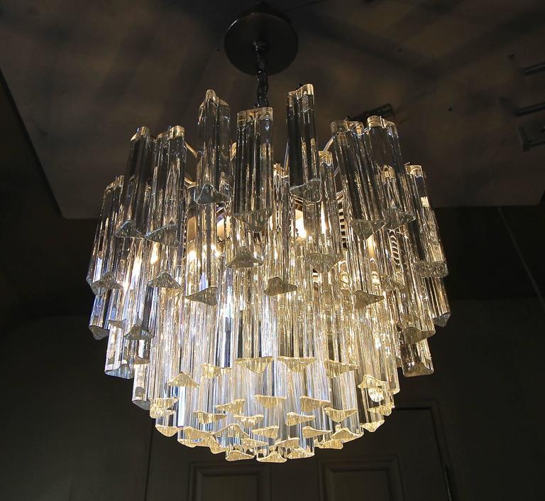 Venini italian triedri crystal prism chandelier at 1stdibs venini italian triedri crystal prism chandelier in good condition for sale in dallas tx aloadofball Gallery