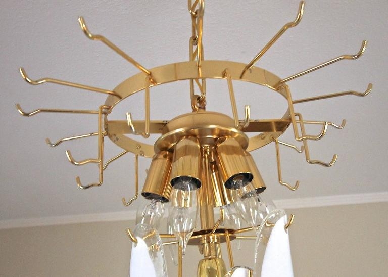 Mazzega Murano Clear and White Petal Chandelier For Sale 2