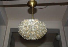 Murano Italian Glass Floral Flower Light Ceiling Pendant